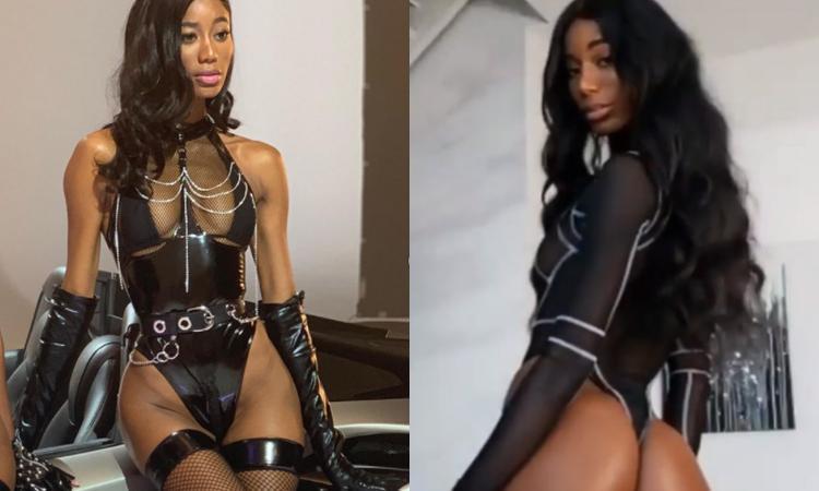 Jazzma Kendrick incontenibile: FOTO in topless, trasparenze e latex per l'ex di Vieri