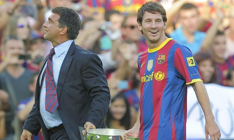 Barcellona, Laporta: 'Dall'Inter due offerte mostruose per Messi, ma dissi no. Bocciai Ronaldo, non me ne pento'