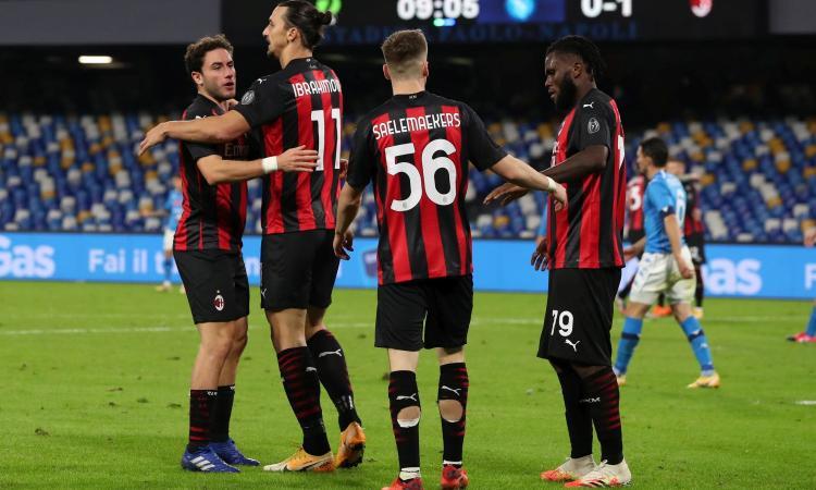Milan inarrestabile, 3-1 anche al Napoli e torna primo! Ibra dominante, ma esce infortunato