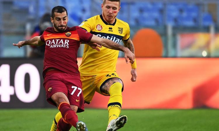 Roma-Parma 3-0: il tabellino