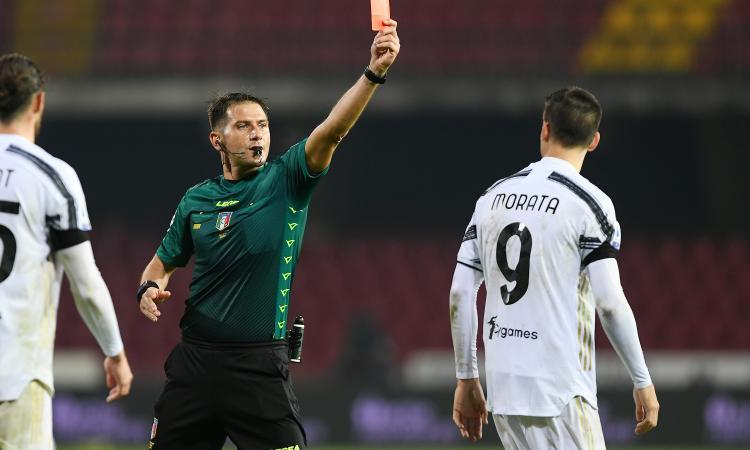Benevento-Juve, rivivi la MOVIOLA: rosso Morata per proteste a fine gara, salta il derby di Torino
