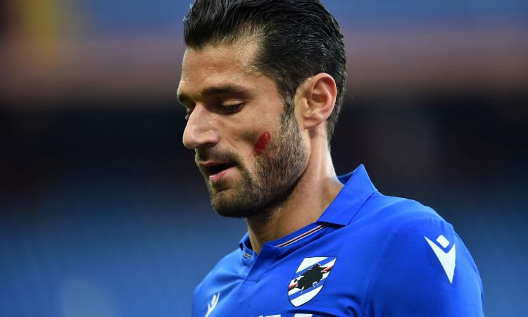 Sampdoria, Candreva lascia prima l'allenamento: botta la piede