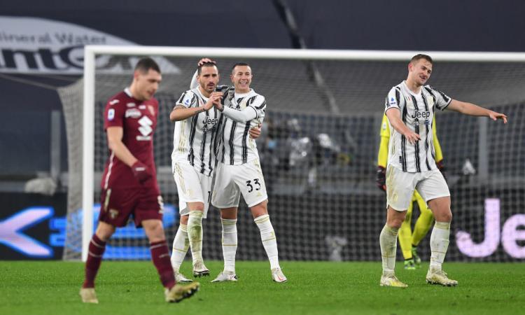A Pirlo basta un tempo da Juve, il Torino fa ancora harakiri: così la B incombe