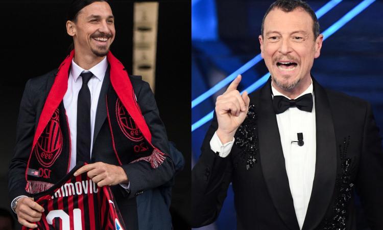Amadeus: 'Ibra non farà mancare nulla al Milan. Pace con Lukaku in diretta a Sanremo? Per ora solo rumors...'