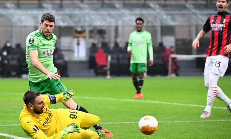 Il Milan rimonta e sorpassa il Celtic con Hauge: Pioli cambia, Donnarumma lo salva