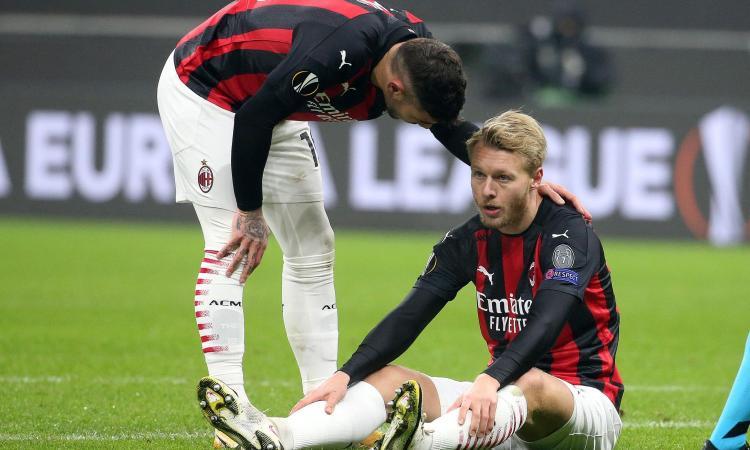 Allarme Milan, Kjaer ko: serve un difensore sul mercato, tutti i nomi