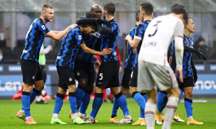Hakimi trascina l'Inter: 3-1 al Bologna