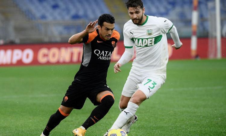 Roma-Sassuolo, prima espulsione in carriera per Pedro