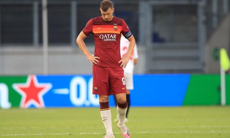 Roma, è rottura con Dzeko: il caos Fonseca e l'apertura all'addio subito, Juve e Inter in allerta