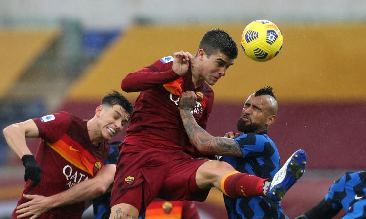 Roma-Inter, le pagelle di CM: Mancini e Pellegrini da 7, Hakimi fa vibrare il cuore, Vidal stecca. Conte, cambi osceni