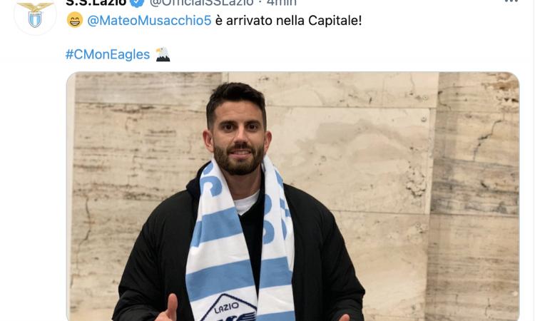 Lazio, Musacchio sbarca a Roma. Stamattina le visite mediche