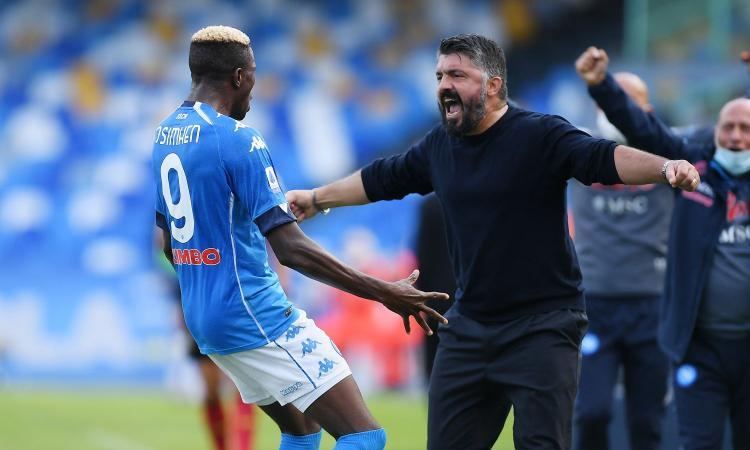 Napolimania: basta rimpiangere Sarri! Solo Atalanta e Sassuolo giocano bene: con Osimhen Gattuso era secondo...