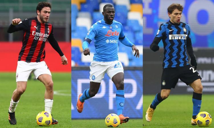 I top della Serie A: Calabria all'altezza di Hakimi, Koulibaly pronto per la Juve. Nessuno come Barella