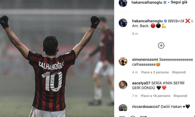 Milan, UFFICIALE: Calhanoglu è guarito dal Covid, tampone negativo