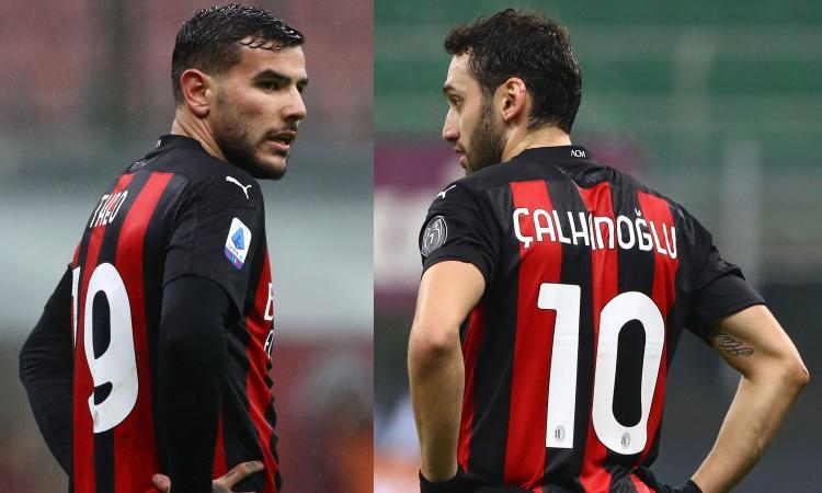 Milan, brutte notizie: Calhanoglu e Theo Hernandez non si allenano, a rischio per Cagliari