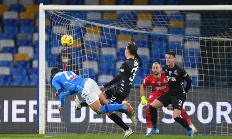 Napoli-Empoli, le pagelle di CM: Bajrami spaventa, Lozano è tarantolato ma la decide Petagna