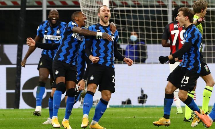 Pazzo derby di Coppa Italia: l'Inter ribalta il Milan e va in semifinale! 2-1, Eriksen decisivo nel recupero