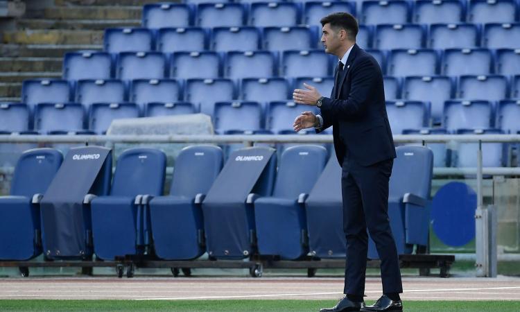 Roma, Fonseca: 'L'abbraccio dimostra che la squadra è unita. Rumors panchina? Penso solo a lavorare'. E su Dzeko...