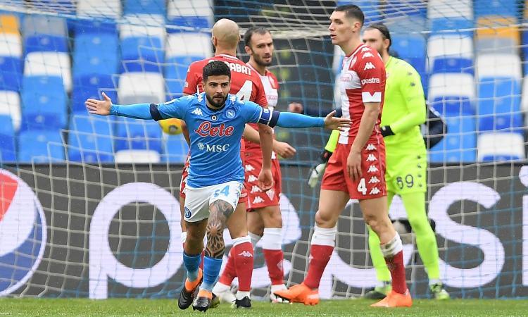 Il Napoli gioca a tennis: 6-0 a una Fiorentina da retrocessione