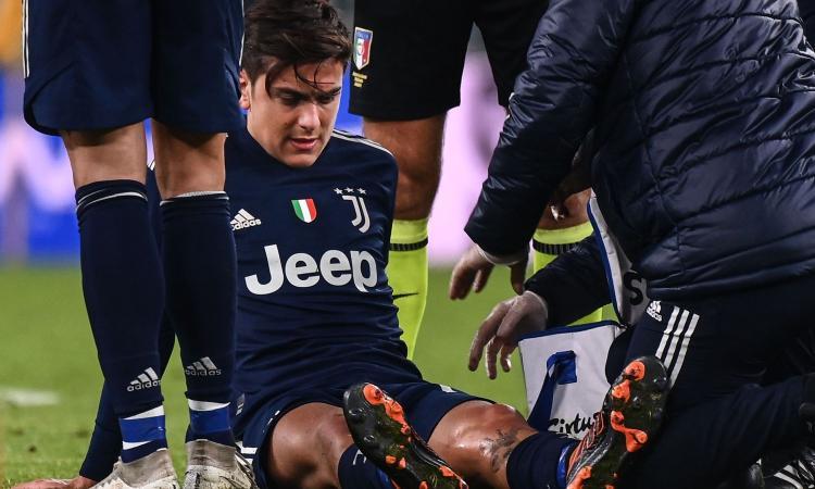 Juve, il ginocchio preoccupa Dybala: consulto da Cugat a Barcellona