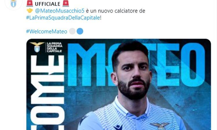 Lazio, Musacchio: 'Fiero di vestire la maglia della prima squadra della Capitale'