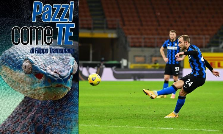 Eriksen, avevi conquistato i tifosi al 'ciao': segna con la palla del destino, l'Inter ha un nuovo giocatore