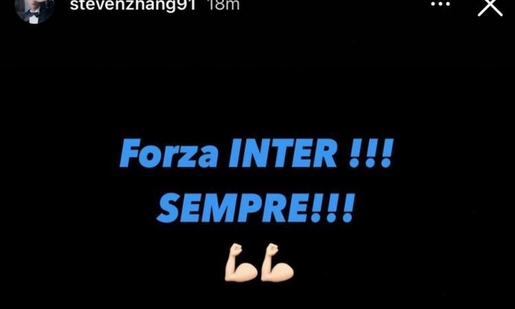 Inter, anche Zhang esulta dopo il 2-0 alla Juve: 'Forza Inter!!! Sempre!!!' FOTO