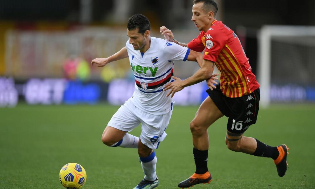 Squillo di Caprari, risponde Keita: Benevento - Samp 1-1