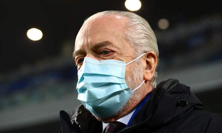 Napoli, De Laurentiis torna raggiante. E con Gattuso...