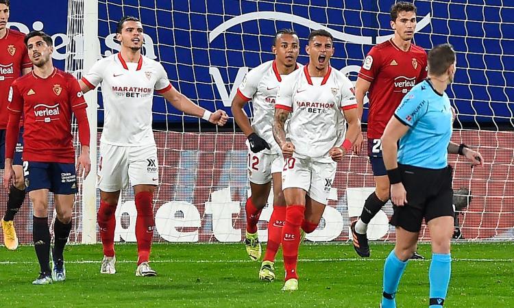 Liga: 2-0 all'Osasuna, il Siviglia scavalca il Barcellona ed è terzo