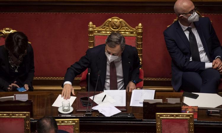 Governo Draghi, ottenuta la fiducia al Senato: 262 sì, 40 contrari e 2 astenuti