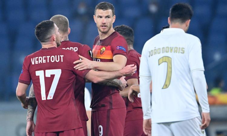 La Roma passeggia col Braga, ma Dzeko si fa male: era pronto per il Milan e ora...