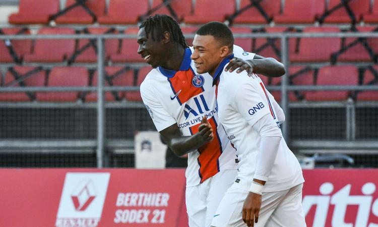Ligue 1: cade il Bordeaux col Metz. Poker PSG con Kean e doppio Mbappé, Pochettino vede la vetta