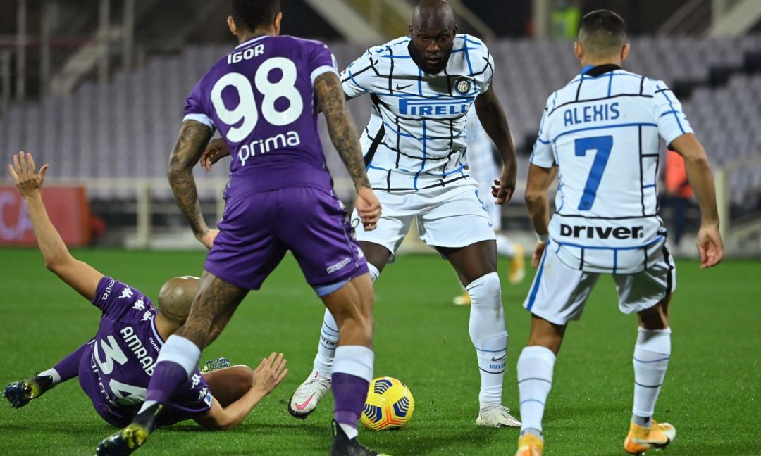 Fiorentina-Inter 0-2: con l'ombra Lukaku