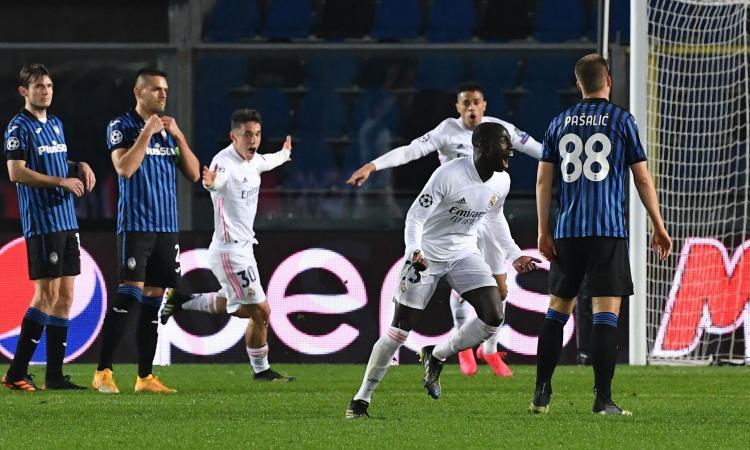 Atalanta in 10 e ko col Real Madrid: 0-1, Mendy decisivo tra le polemiche