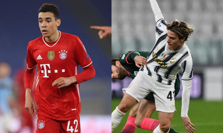 Musiala titolare nel Bayern, Fagioli fuori nella Juve: i tifosi si chiedono perché, ma ha ragione Pirlo