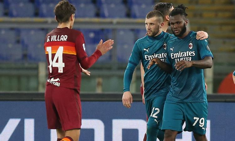 Roma-Milan 1-2: il tabellino