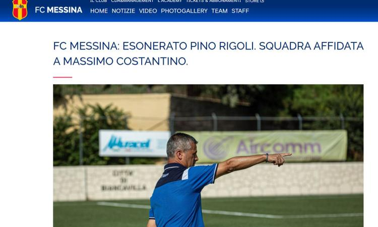 Clamoroso a Messina: l'allenatore Rigoli lotta contro il Covid, il Messina perde e lo esonera