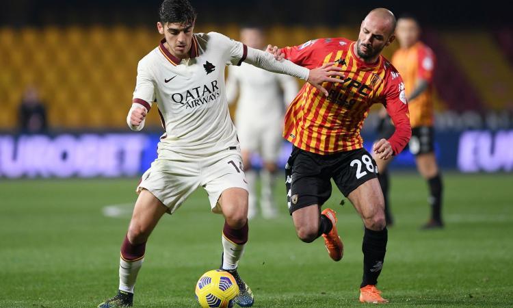 La Roma delude e si ferma a Benevento: solo 0-0 in 11 contro 10 per oltre 35 minuti