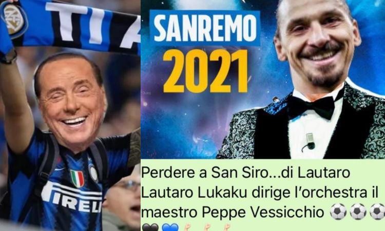 FOTO Milan-Inter, il derby si sposta sui social: da 'una lacrima sul viso' Ibra a Sanremo a Salvini e Handanovic...