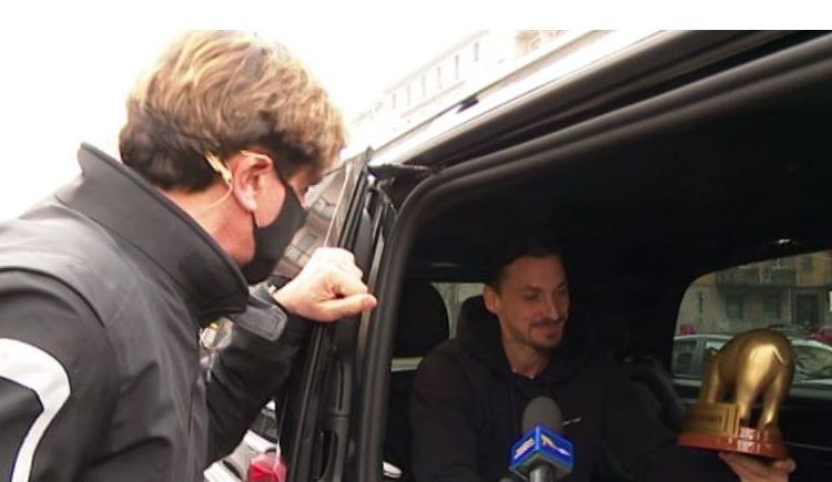 Milan, Tapiro d'oro a Ibrahimovic dopo il derby: 'Tanti errori, ci riprenderemo. Sanremo? Ora non ci penso'