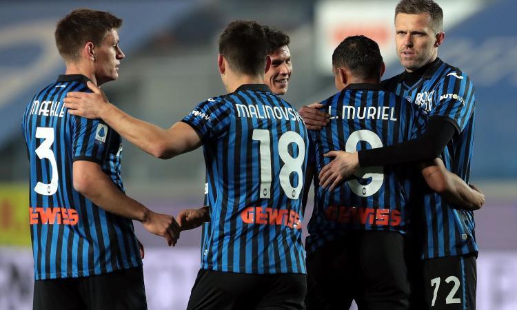Serie A: l'Atalanta ne fa 5 al Crotone, Gasp a -4 dal Milan. Tris Verona al Benevento, Cagliari ok sul Bologna