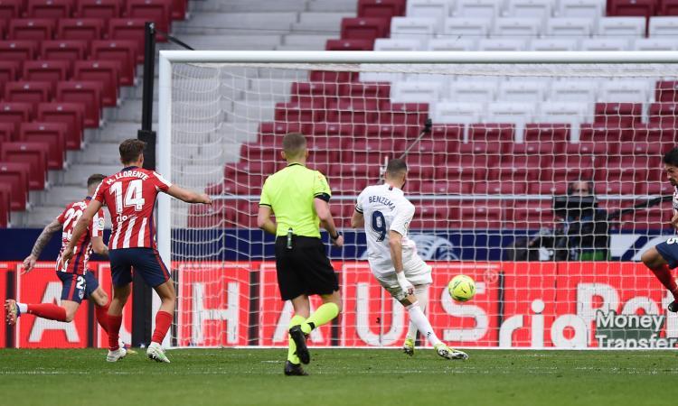 Atletico-Real 1-1: Benzema regala a Zidane il pari che tiene aperta la Liga