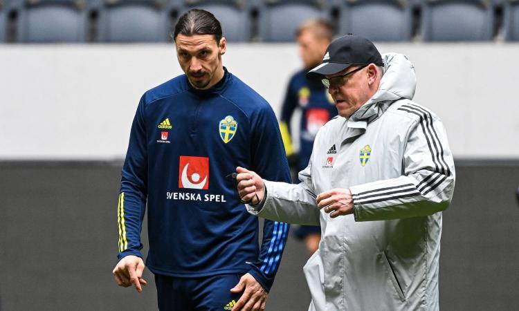 Ibrahimovic lascia l'allenamento della Svezia, il ct: 'Tutto concordato'. Domani sarà in panchina