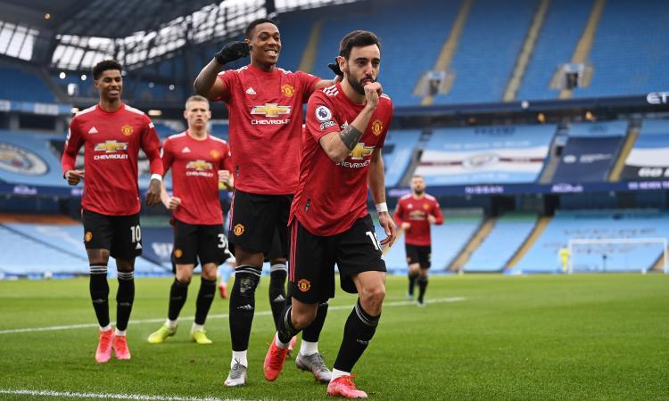 Il derby di Manchester è dello United, City battuto 2-0