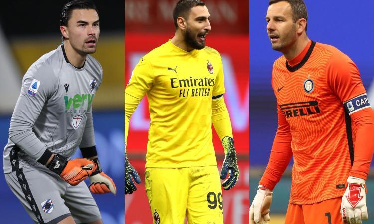 Serie A, top e flop dei portieri: Audero il migliore, poi Donnarumma. Handanovic 14°, incubo Sirigu e Roma