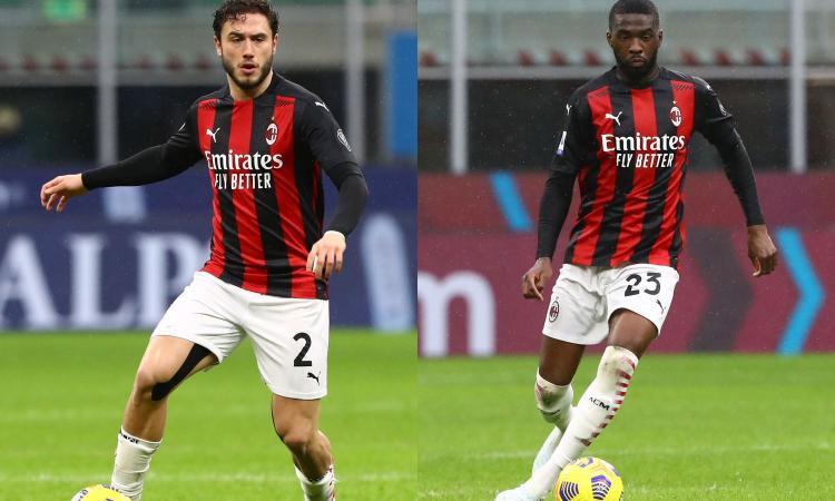 Milan, si fermano anche Calabria e Tomori: le condizioni e chi gioca con l'Udinese