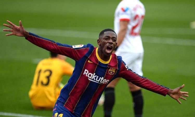 Juve, c'è un'idea Dembelé: si pensa a un nuovo scambio col Barcellona