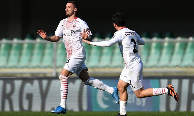 Il Milan riprende a correre: annullato 2-0 il Verona, è a -3 dall'Inter