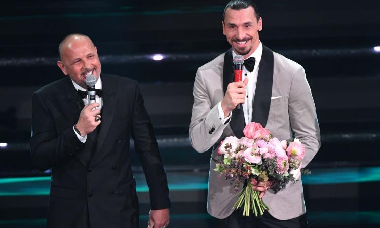Ibra e Mihajlovic a Sanremo: 'Zlatan mi invidia la Champions', 'Sinisa insisteva per portarmi al Bologna'